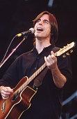 Jackson Browne performs on stage at Glastonbury Festival June 1994