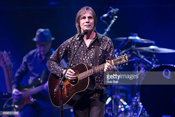 Jackson Browne performs on stage at Royal Albert Hall on November 24 2014 in London United Kingdom