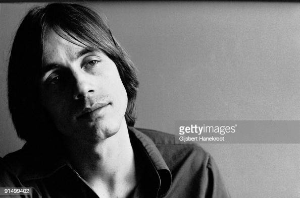 Jackson Browne posed in Amsterdam Holland in 1975