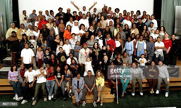 Jackson Family at Neverland Ranch photographed in October 2003 Katherine Jackson Joe Jackson Latoya Jackson Michael Jackson Jermaine Jackson Paris...