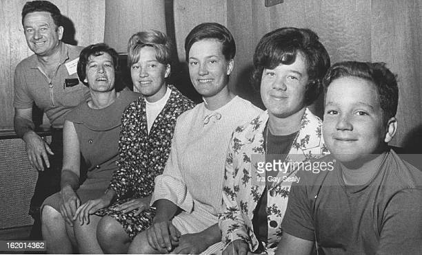 SEP 10 1966 OCT 19 1966 Jackson Family From Left Fred Ruth Shari Cyndi Mary Rickey Pose for Photographer The senior Jacksons didn't go to college but...