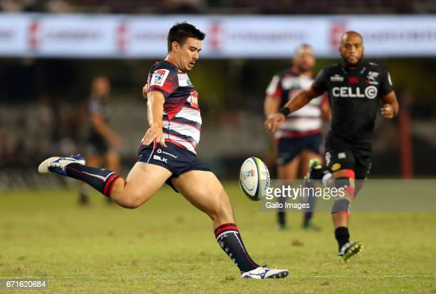 Jackson GardenBachop of the Melbourne Rebels during the Super Rugby match between Cell C Sharks and Rebels at Growthpoint Kings Park on April 22 2017...