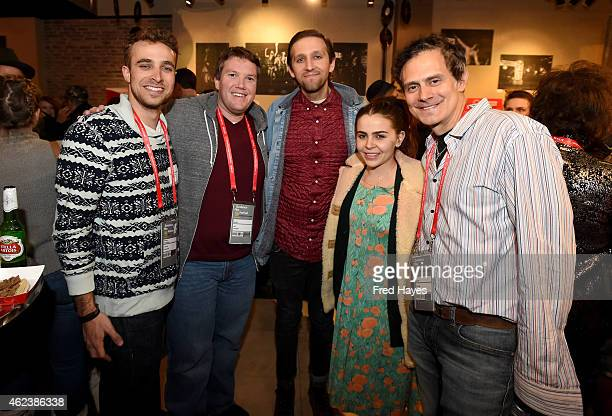 Jackson Greenberg Jeff Jernigam Andrew Dost Mae Whitman and Michael Todd attend ASCAP Composer Cocktail Party during the 2015 Sundance Film Festival...