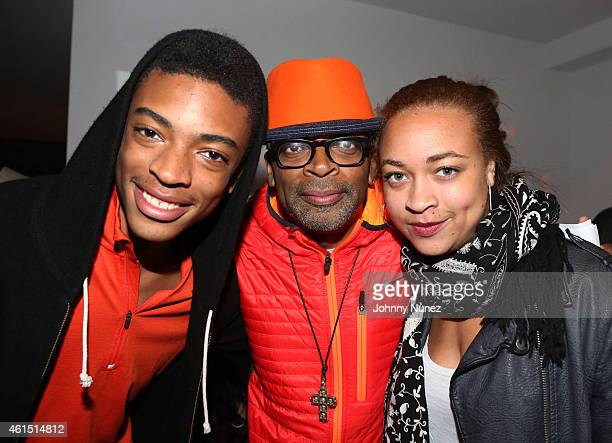Jackson Lee Spike Lee and Satchel Lee attend 'Da Sweet Blood Of Jesus' Soundtrack Listening Party Hosted By Spike Lee at Lightbox on January 13 2015...