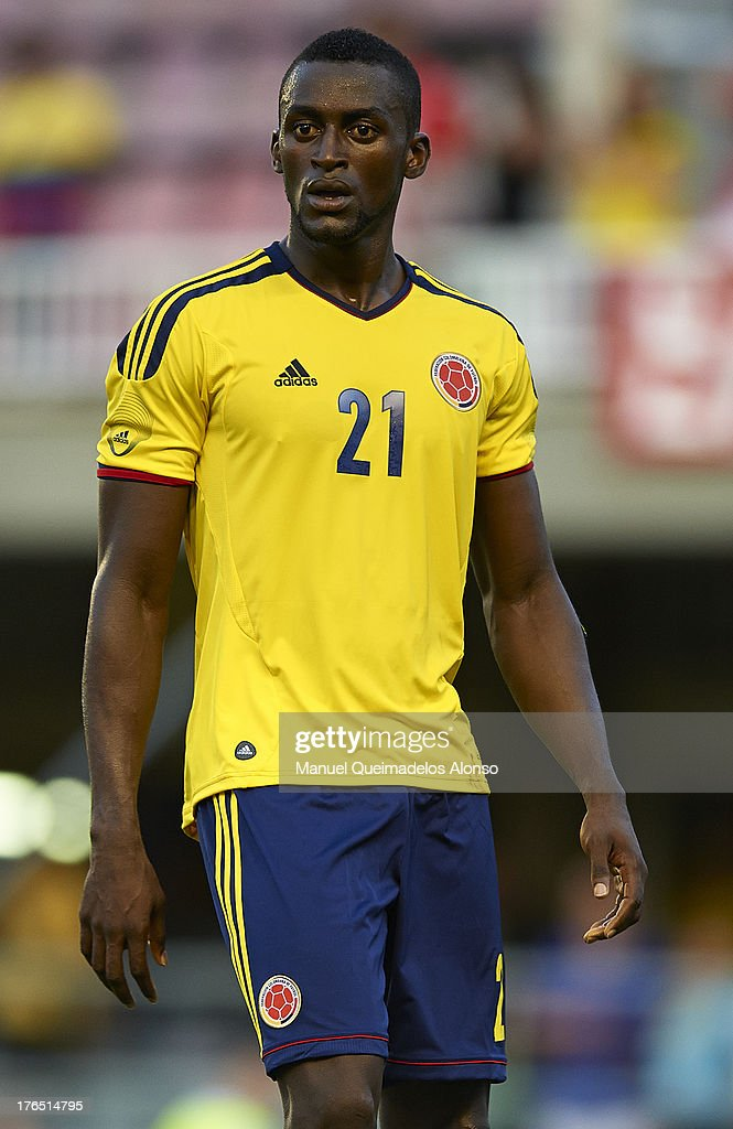 Jackson Martinez of Colombia looks on during the International Friendly match between Colombia and Serbia at the Mini Estadi Stadium on August 14, 2013 in Barcelona, Spain.
