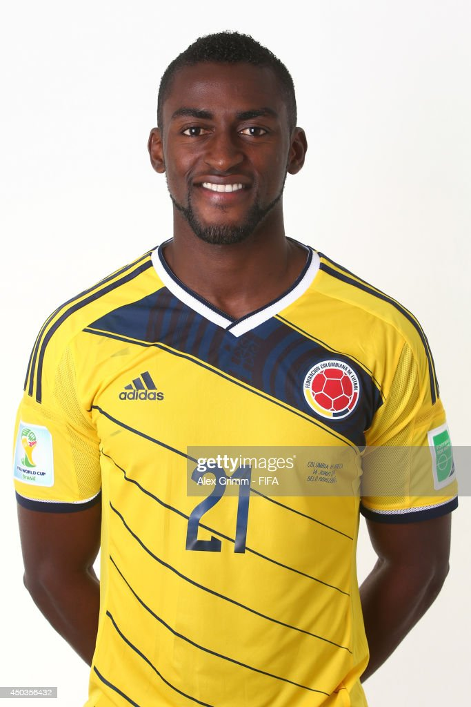 Jackson Martinez of Colombia poses during the official FIFA World Cup 2014 portrait session on June 9, 2014 in Sao Paulo, Brazil.
