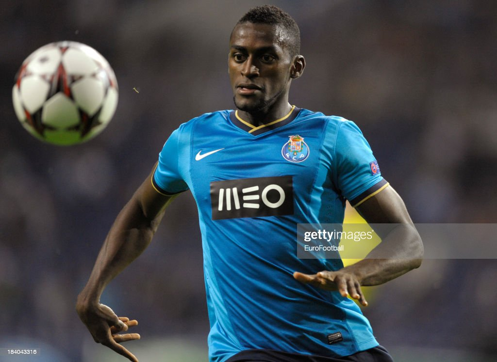 Jackson Martinez of FC Porto in action during the UEFA Champions League group stage match between FC Porto and Club Atletico de Madrid held on...