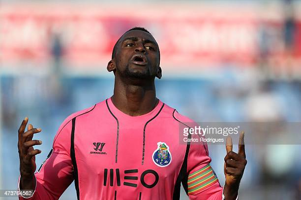 Jackson Martínez of Porto celebrates during the Primeira Liga match between Belenenses and FC Porto at Estadio do Restelo on May 17 2015 in Lisbon...