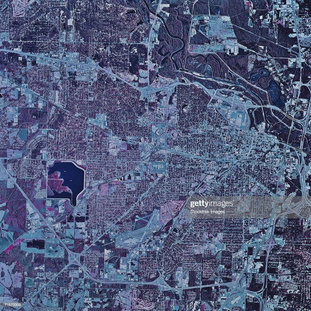 'Jackson, Mississippi, satellite image'
