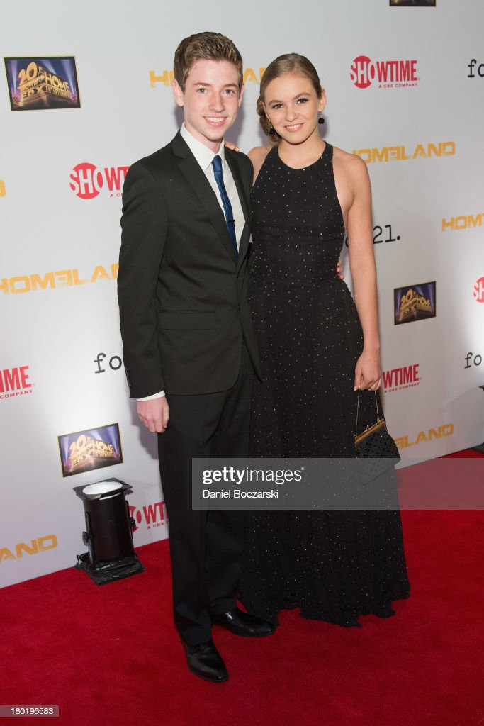 Jackson Pace and <a gi-track='captionPersonalityLinkClicked' href=/galleries/search?phrase=Morgan+Saylor&family=editorial&specificpeople=8047326 ng-click='$event.stopPropagation()'>Morgan Saylor</a> attend a premiere screening hosted by SHOWTIME and Fox 21 for the hit series 'Homeland' for Season 3 at Corcoran Gallery of Art on September 9, 2013 in Washington City.