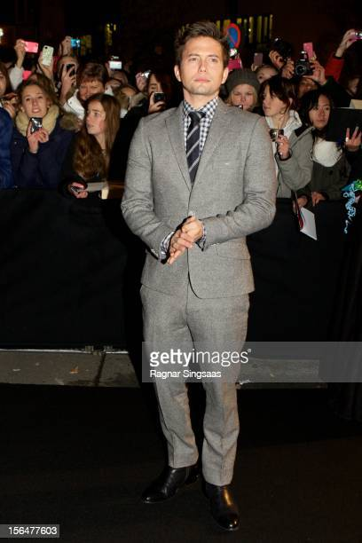 Jackson Rathbone attends the Norway Premiere of The Twilight Saga Breaking Dawn Part 2 at Colosseum on November 15 2012 in Oslo Norway