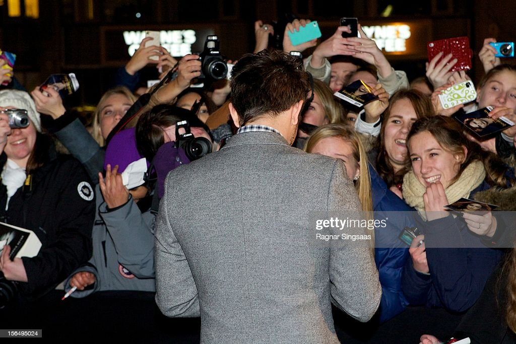 Jackson Rathbone attends the Norway Premiere of The Twilight Saga: Breaking Dawn Part 2 at Colosseum on November 15, 2012 in Oslo, Norway.