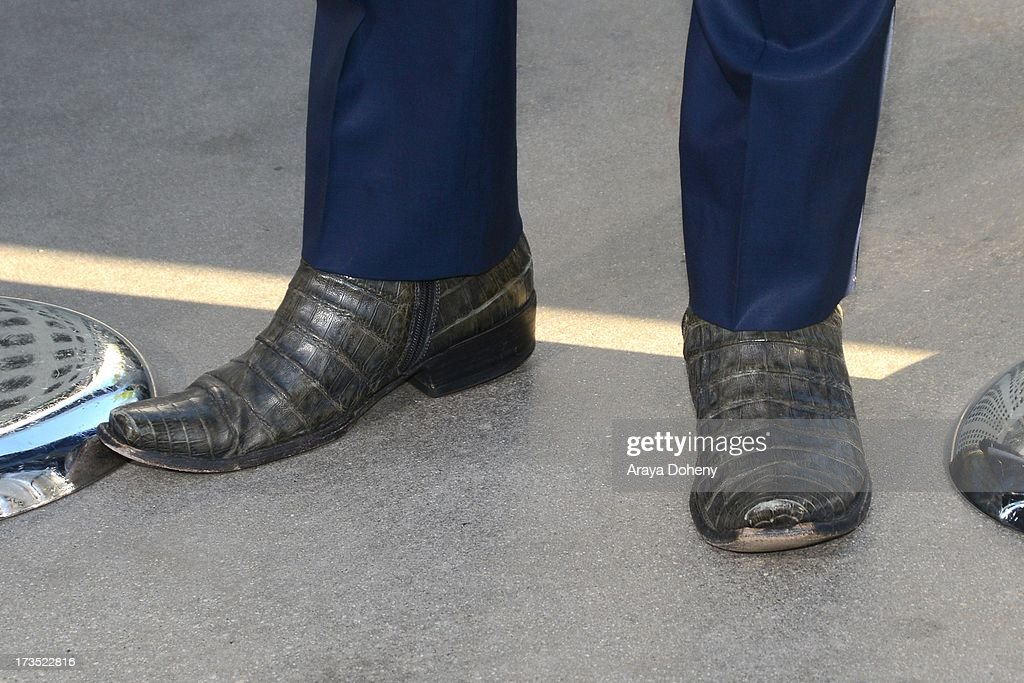 Jackson Rathbone (boot detail) attends the premiere of Warner Bros. 'The Conjuring' at ArcLight Cinemas Cinerama Dome on July 15, 2013 in Hollywood, California.