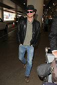 Jackson Rathbone is seen at LAX on September 10 2015 in Los Angeles California