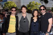 Jackson Rathbone Peter Facinelli Julia Jones and Billy Burke attend the 'Eclipse' fan frenzy held at Nokia Plaza LA LIVE on June 23 2010 in Los...