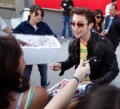 Jackson Rathbone with his fans at the 'Eclipse' fan frenzy held at Nokia Plaza LA LIVE on June 23 2010 in Los Angeles California