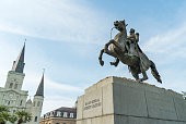 Statue of General Andrew Jackson in Jackson square in New Orleans, Louisiana.