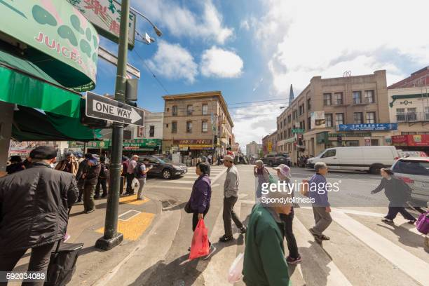 Jackson Street at Chinatown of San Francisco, California
