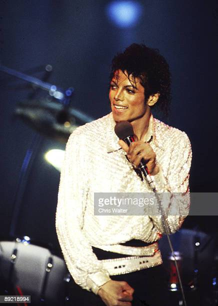 Jacksons 1984 Michael Jackson at Dodger Stadium