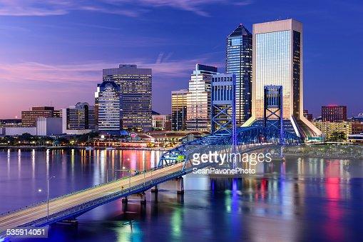 Edificios de la ciudad de Jacksonville, Florida : Foto de stock