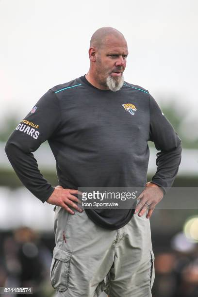 Jacksonville Jaguars defensive coordinator Todd Walsh looks on during the Jaguars training camp on July 29 2017 at Florida Blue Health and Wellness...
