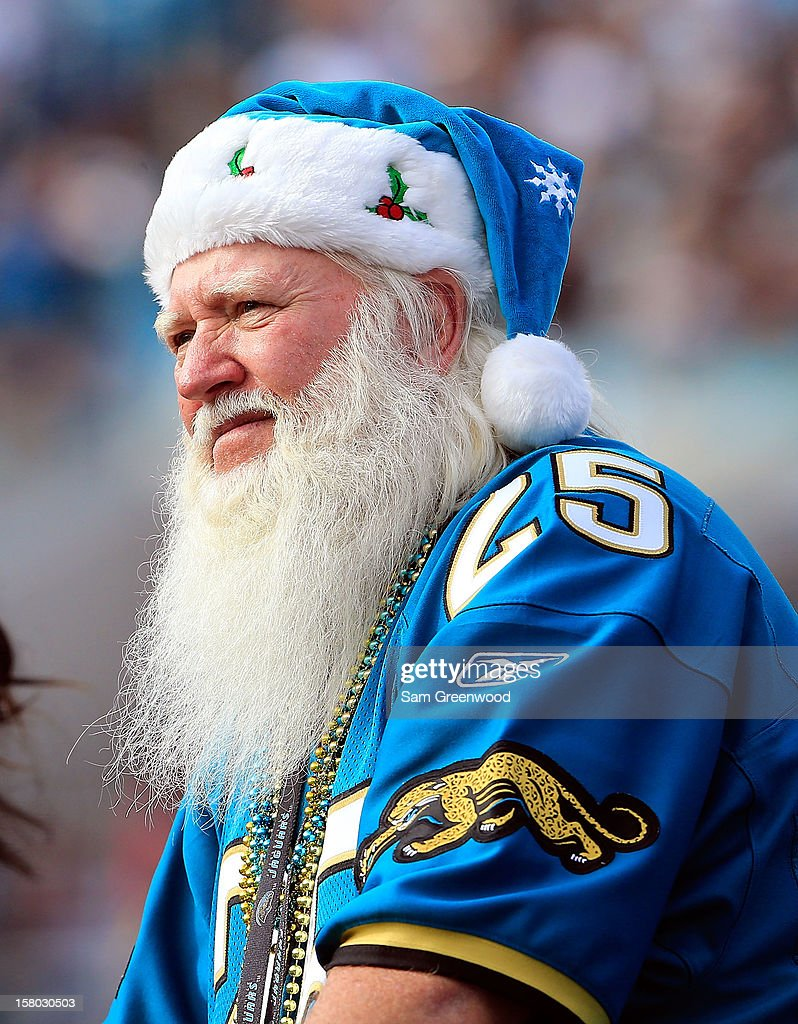 A Jacksonville Jaguars fan watches the action during the game against the New York Jets at EverBank Field on December 9, 2012 in Jacksonville, Florida.