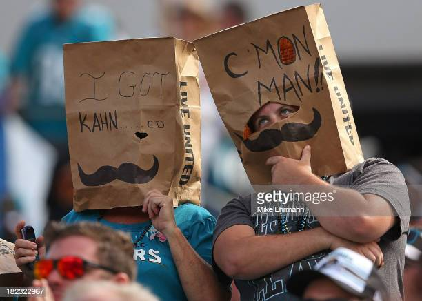 Jacksonville Jaguars fans react to losing during a game against the Indianapolis Colts at EverBank Field on September 29 2013 in Jacksonville Florida