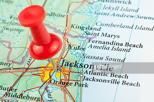 Jacksonville Map, Florida - USA
