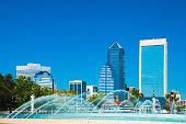 Jacksonville Skyline and Friendship Fountain