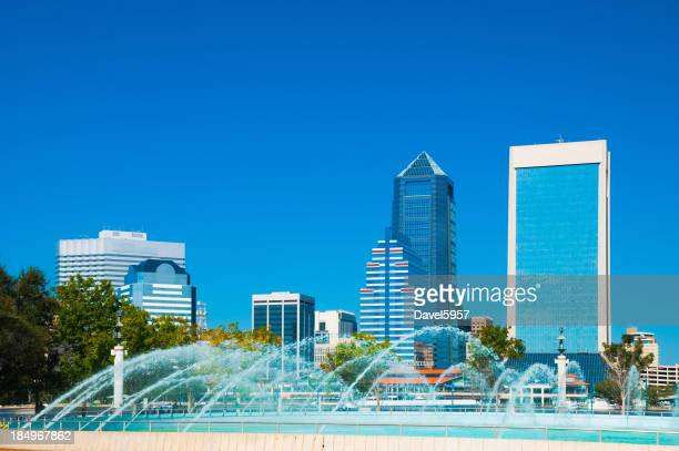 Jacksonville Skyline and Friendship Fountain
