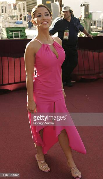 Jacky Guerrido during 2004 Premio Lo Nuestro Arrivals at Miami Arena in Miami Florida United States