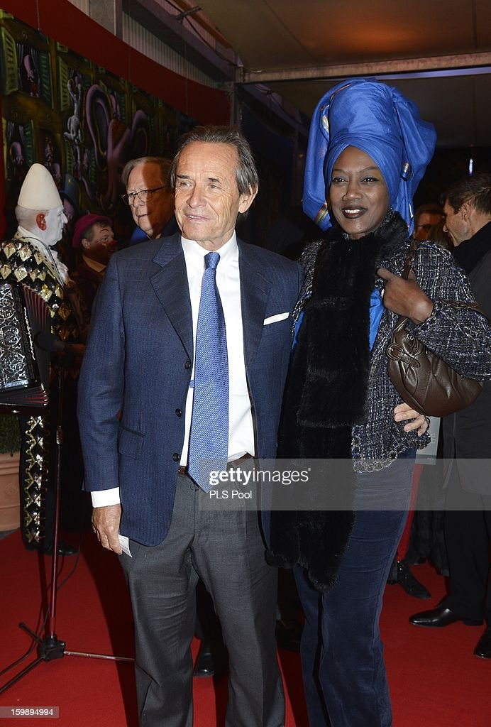 Jacky Ickx and his wife Khaja Nin (R) attend the closing ceremony of the Monte-Carlo 37th International Circus Festival on January 22, 2013 in Monte-Carlo, Monaco.