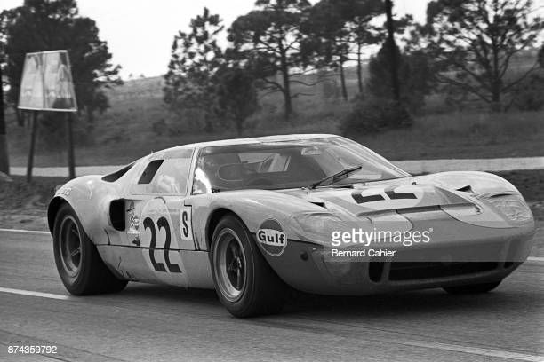 Jacky Ickx Ford GT40 12 Hours of Sebring Sebring 22 March 1969 Jacky Ickx in his John Wyer entered Ford GT40 on his way to victory in the 1969 12...