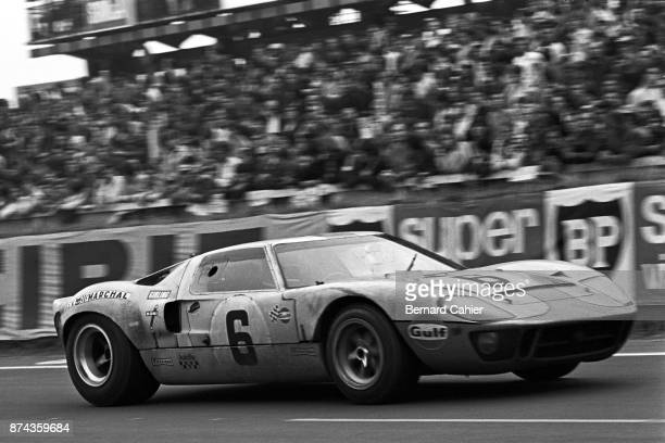Jacky Ickx Ford GT40 24 Hours of Le Mans Le Mans 15 June 1969 Jacky Ickx in his John Wyer entered Ford GT40 on his way to victory in the 1969 24...