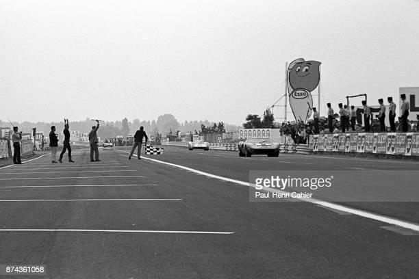 Jacky Ickx Hans Herrmann 24 Hours of Le Mans Le Mans 15 June 1969 Jacky Ickx winning the 1969 24 Hours of Le Mans ahead of Hans Herrmann's Porsche...