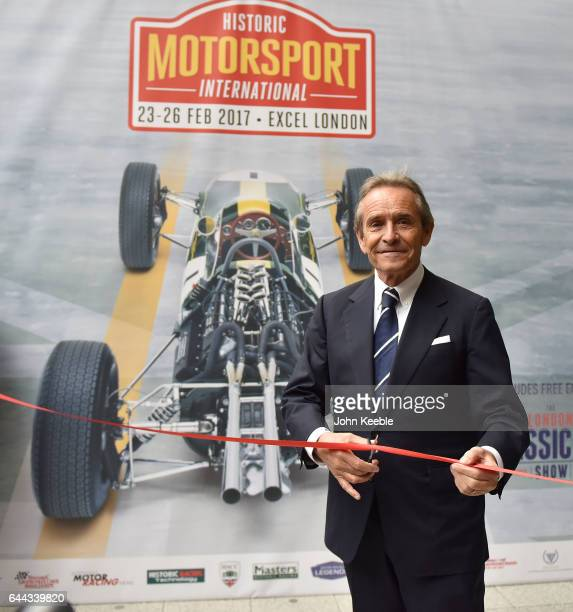 Jacky Ickx opens the Historic Motorsport International part of the London Classic Car Show at ExCel on February 23 2017 in London England The London...