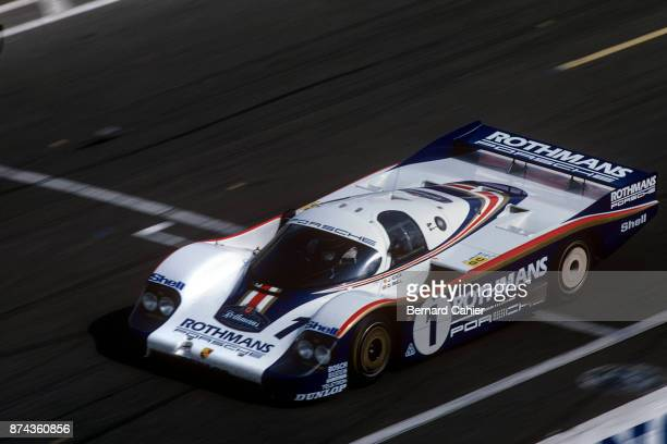 Jacky Ickx Porsche 956 24 Hours of Le Mans Le Mans 20 June 1982 Jacky Ickx driving the Porsche 956 with teammmate Derek Bell on his way to victory in...