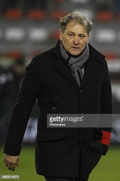 Jacky Mathijssen head coach of KVC Westerlo during the Jupiler Pro League match between Royal Excel Mouscron and KVC Westerlo at Le Cannonier stadium...