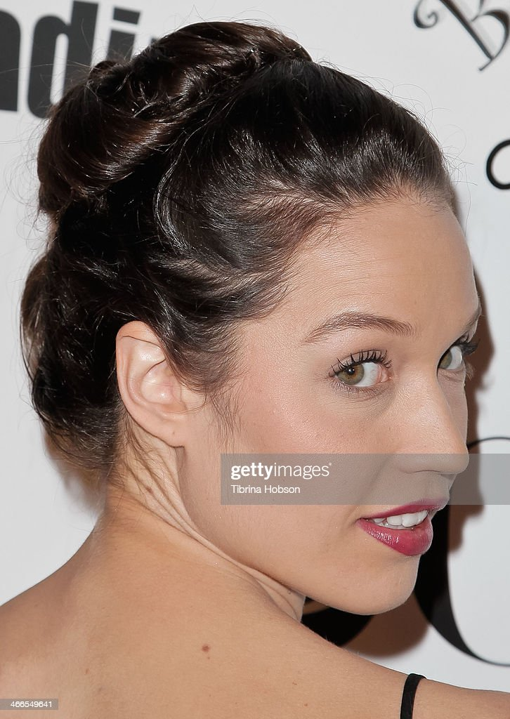 Jaclyn Betham (hair detail) attends the 2nd annual Borgnine movie star gala honoring actor Joe Mantegna at Sportman's Lodge on February 1, 2014 in Studio City, California.