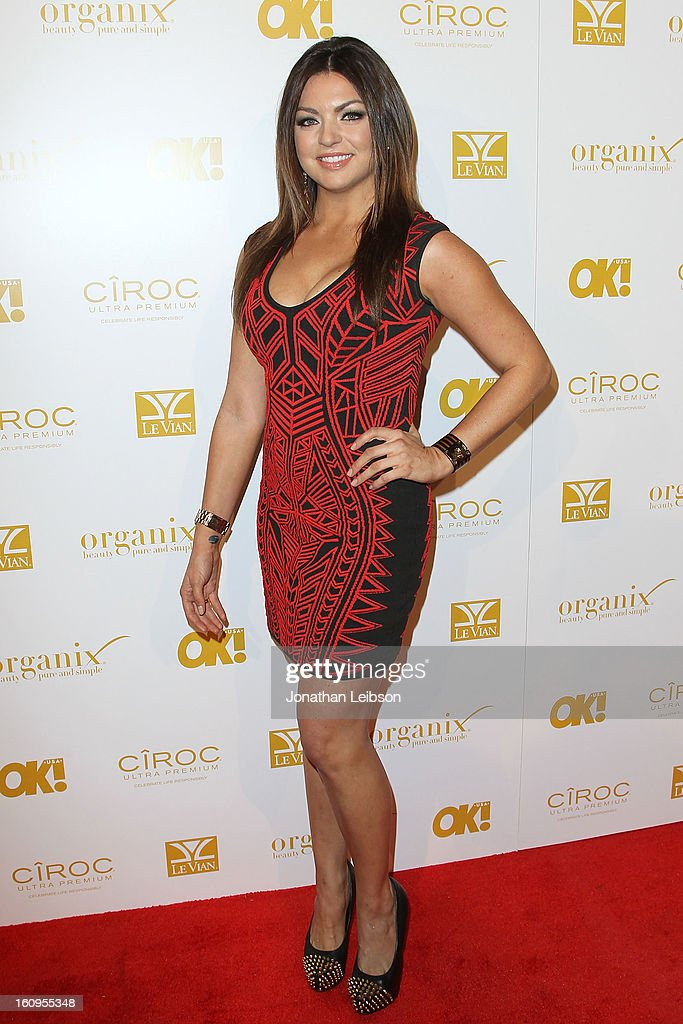 Jaclyn Marfuggi attends the OK! Magazine Pre-GRAMMY Party at Sound on February 7, 2013 in Hollywood, California.