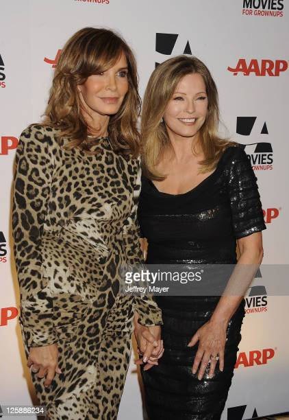 Jaclyn Smith and Cheryl Ladd attend the AARP The Magazine's 10th Annual Movies for Grownups Award Gala at The Beverly Hilton hotel on February 7 2011...