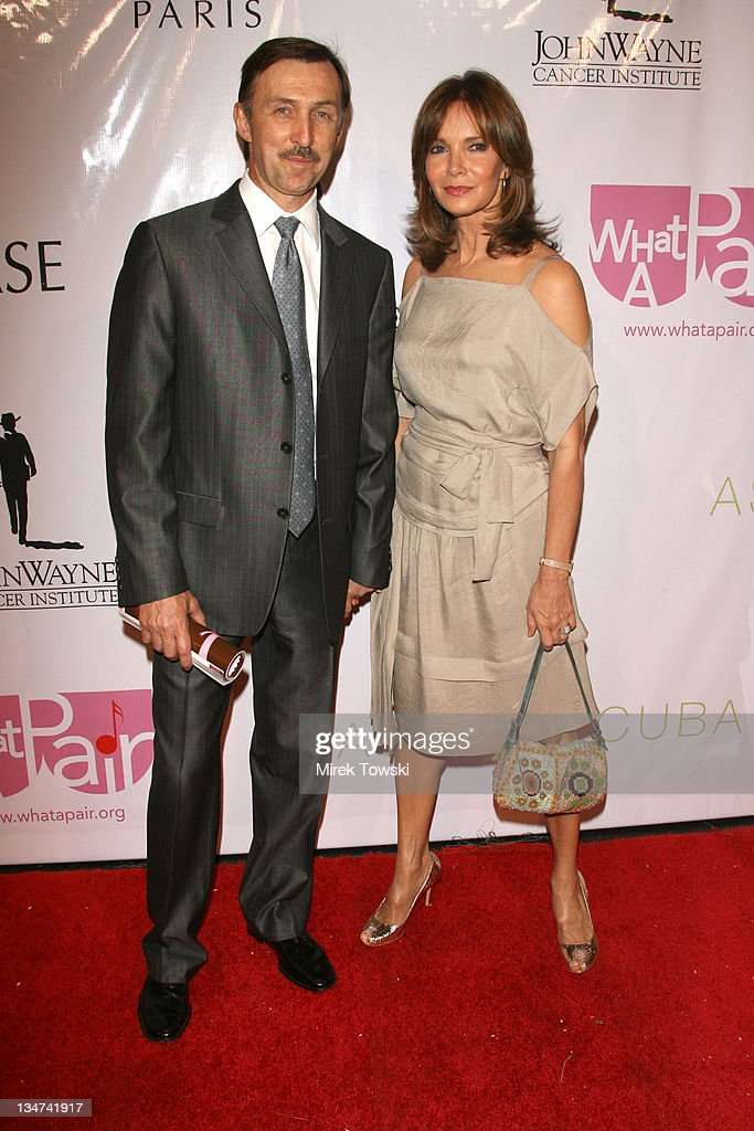 <a gi-track='captionPersonalityLinkClicked' href=/galleries/search?phrase=Jaclyn+Smith&family=editorial&specificpeople=211283 ng-click='$event.stopPropagation()'>Jaclyn Smith</a> and her husband Dr. Brad Allen during 'What A Pair 4' A Celebration of Women's Duets at 'Wiltern' Theatre in Los Angeles, California, United States.