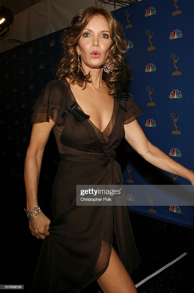 <a gi-track='captionPersonalityLinkClicked' href=/galleries/search?phrase=Jaclyn+Smith&family=editorial&specificpeople=211283 ng-click='$event.stopPropagation()'>Jaclyn Smith</a> during 58th Annual Primetime Emmy Awards - Backstage at The Shrine Auditorium in Los Angeles, California, United States.