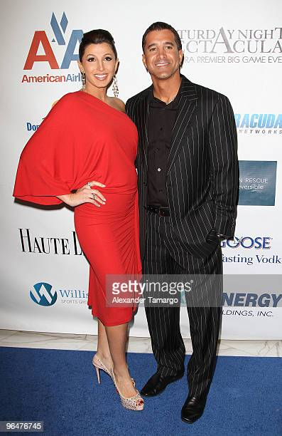 Jaclyn Stapp and Scott Stapp attend the 4th annual Saturday Night Spectacular celebration at The Bank of America Tower on February 6 2010 in Miami...