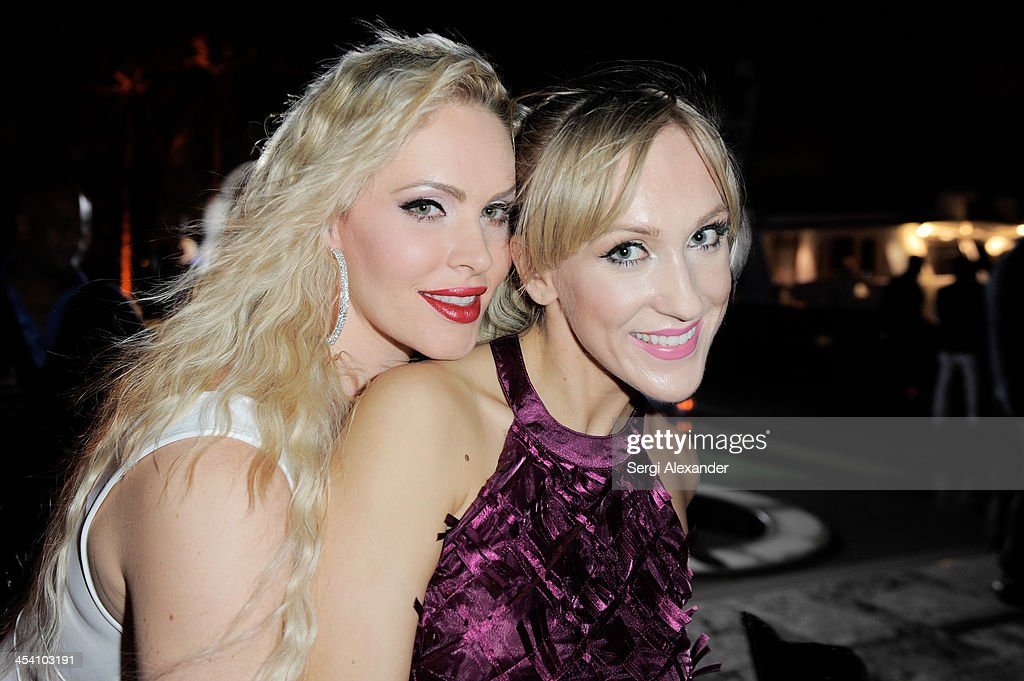 Jaclyn Tara Smith & Alex Baginski attend Niche Media Party Hosted By Zoe Saldana on December 6, 2013 in Miami Beach, Florida.