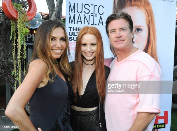 Jaclynn Jarrett Madelaine Petsch and Jimmy Sommers attend the Popular X Wildfox Cover Launch Event For Madelaine Petsch in Los Angeles on June 12...