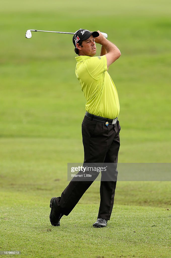 Jaco Van Zyl of South Africa in action during the first round of The Nelson Mandela Championship presented by ISPS Handa at Royal Durban Golf Club on December 8, 2012 in Durban, South Africa.