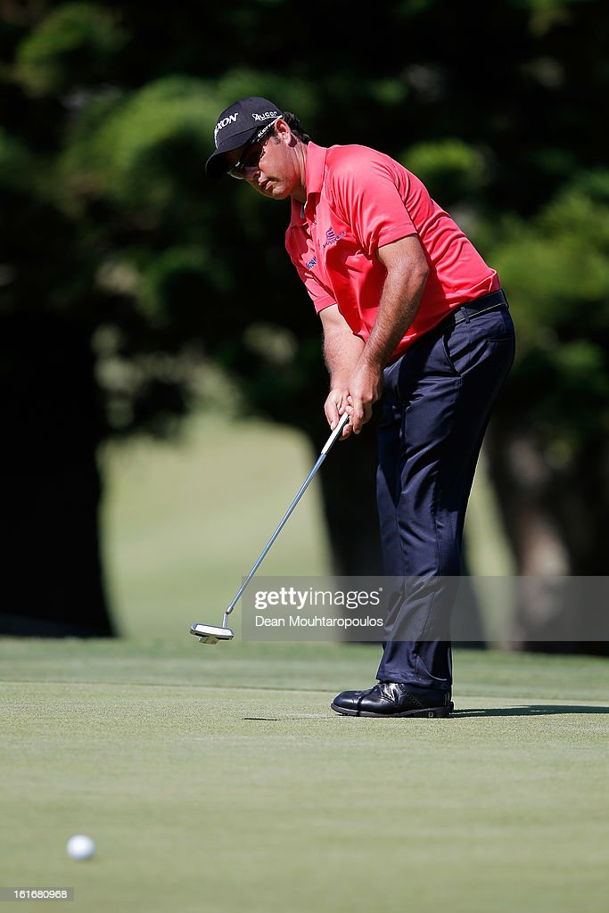 Jaco van Zyl of South Africa putts on the 7th green during Day One of the Africa Open at East London Golf Club on February 14, 2013 in East London, South Africa.