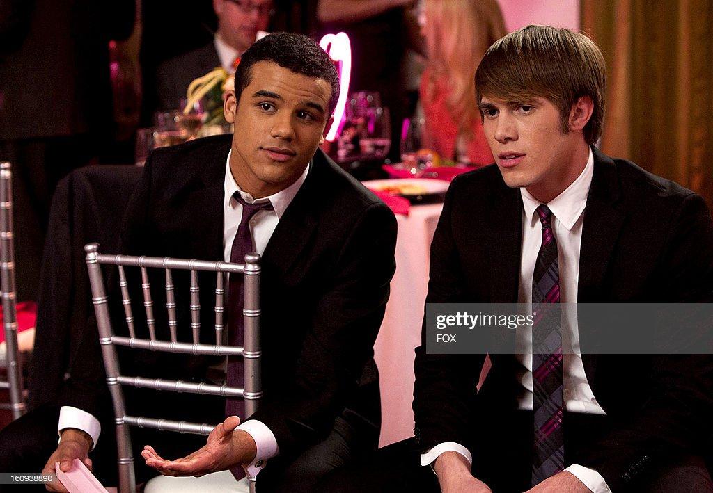 Jacob Artist as 'Jake' (L) and Blake Jenner as 'Ryder' on Season Four of GLEE airing Thursday, February 14, 2013 (9:00-10:00 PM ET/PT) on FOX.