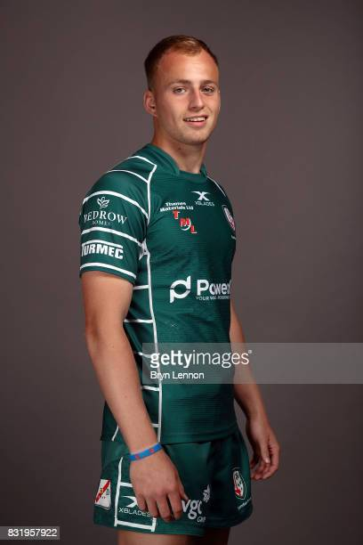 Jacob Atkins of London Irish poses for a portrait during the London Irish squad photo call for the 20172018 Aviva Premiership Rugby season on August...